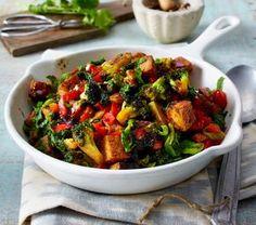 Vegane Spinat-Tofu-Pfanne