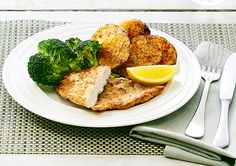 Herb and Parmesan Chicken Schnitzel recipe - Easy Countdown Recipes Schnitzel Recipes, Chicken Schnitzel, Food For The Poor, Chicken Broccoli Cheese, Delicious Desserts, Yummy Food, Parmesan Potatoes, Tray Bakes, Meal Planning