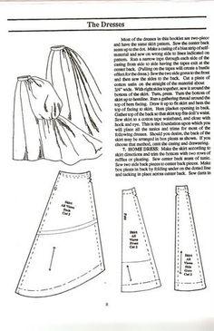 Sewing pattern - bustle skirt