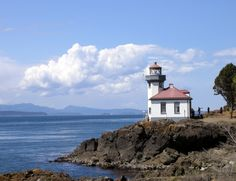 Have to go here to view the orcas!  Lime Kiln Point State Park a 1919 lighthouse on San Juan Island, WA
