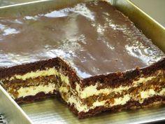 ciasto orzechowe marysieńka Cooking Cookies, Cookie Desserts, Sweet Desserts, No Bake Desserts, Sweet Recipes, Cake Recipes, Dessert Recipes, Polish Desserts, Torte Cake