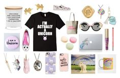 """""""I'm a unicorn!"""" by bookworm528 ❤ liked on Polyvore featuring Ladurée, Vinyl Revolution, Cute To the Core, Rad+Refined, Damselfly Candles, Too Faced Cosmetics, Urban Decay, Dogeared, Under One Sky and Sophia Webster"""