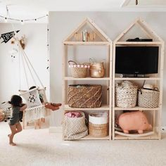 10 Awesome Playrooms That Utilize Clever Storage Options #TheEverymom