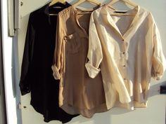 sheer blouses. Love them.