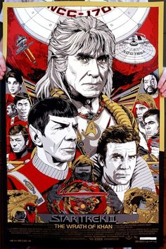 """He put... creatures... in our bodies.. to control our minds..."" Amazing Tyler Stout poster for ""Wrath of Khan"". #starTrek"