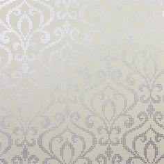 Accent wall - Venus Lavender Metallic Mini Damask