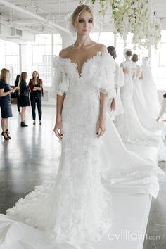 e89b9050794d1 MARCHESA 2018 GELİNLİK MODELLERİ_8 Wedding Dress Sleeves, Bridal Wedding  Dresses, Couture Wedding Gowns,