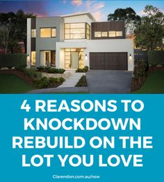 There are some great reasons to use the land you're currently living on to buy a new home #ClarendonHomes #ClarendonHomesNSW #Luxuryhomes