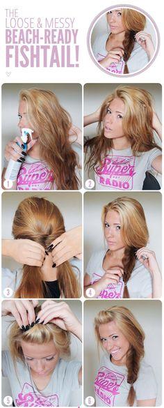 Wie wir schon gesagt haben,gibt es viele süße und einfache Frisuren in dem Internet. Dies ist auch einer von Ihnen. Wenn Sie zu Hause machen wollen,dauert es circa 5 oder 10 Minuten. source :