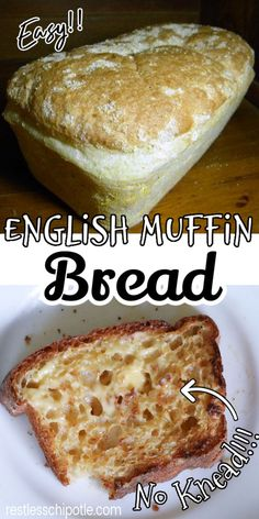English Muffin Bread, Homemade English Muffins, Bread Machine Recipes, Bread Recipes With Yeast, Bread And Pastries, Brunch, Scones, Love Food, Baking Recipes