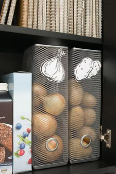 interesting use of metal magazine holders Our favorite IKEA hacks of all time. Everything from IKEA beds, to standing desks to dining tables. DIY furniture projects for every room. Diy Kitchen Storage, Diy Storage, Kitchen Hacks, Kitchen Pantry, Kitchen Cabinets, Smart Storage, Pantry Room, Kitchen Layout, Cupboards