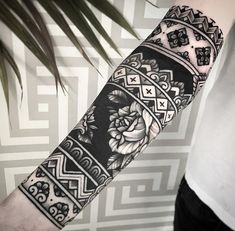 an ornamental tattoo artist, Jack Peppiette was Continue Reading and for more tattoo design → View Website Tribal Sleeve Tattoos, Forearm Tattoos, Body Art Tattoos, Hand Tattoos, Tatoos, Geometric Sleeve Tattoo, Turtle Tattoos, Tattoo Drawings, Blackout Tattoo