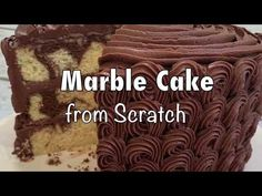 Learn how to make a delicious scratch Marble Cake in this video tutorial! This is a three layer, 8 inch cake with chocolate buttercream filling and frosting. Magic Cake Recipes, Marble Cake Recipes, Cake Recipes From Scratch, Frosting Recipes, Buttercream Filling, Chocolate Buttercream, Super Moist Banana Bread, Chocolate Brioche, Mason Jar Desserts