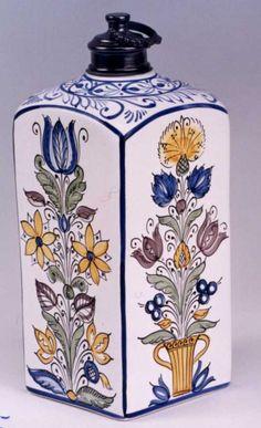 habán kerámia - Google keresés Serving Dishes, Folk Art, Art Nouveau, Hungary, Glaze, Tile, Blue And White, Enamel, Jars