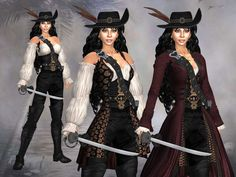 Sail on even stranger tides as the captain of your very own pirate ship and look sharp doing it too! The outfit can be worn in three different options: Jacket Pirate Garb, Female Pirate Costume, Pirate Wench, Pirate Woman, Lady Pirate, Renaissance Pirate, Renaissance Costume, Renaissance Clothing, Zed Cosplay