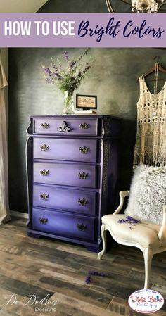 How to Use Bright Colors – Do Dodson Designs – Dixie Belle Paint Company