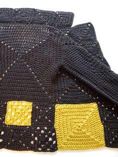 Crochet Jacket, Crochet Cardigan, Crochet Granny, Knit Or Crochet, Crochet For Kids, Free Crochet, Diy Clothing, Crochet Fashion, Crochet Clothes