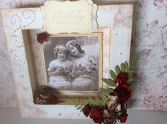 Shadow box using Pion papers and vintage photos I Gen, Shadow Box, Vintage Photos, Frame, Cards, Home Decor, Picture Frame, Decoration Home, Room Decor