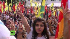 Tausende von Kurden haben am Samstag in Köln gegen die militärische Intervention…