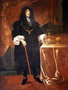 Lenkijos karaliaus ir Lietuvos didžiojo kunigaikščio Jono Kazimiero Vazos (1609-1672) portretas, apie 1667. Muziejus rūmai Vilanove. / Portrait of Grand Duke of Lithuania and King of Poland John II Casimir Vasa (1609-1672), about 1667. Palace in Wilanów.