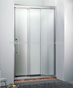 3 panel 3 track modern bypass closet door check out for 3 panel tub shower doors