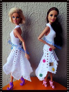 #Crochet  #Dress #Doll #Barbie #Vestido #Muñeca #Cléa5 #RaquelGaucha