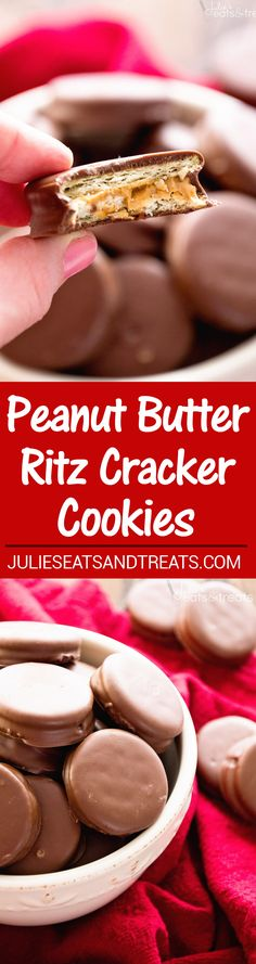 Peanut Butter Ritz Cookies ~ Our FAVORITE treats for the holidays! Easy Christmas Cookies!: