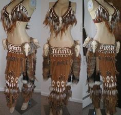 I had an idea for a wolf-inspired costume years ago that was kind of similar to this... love the look