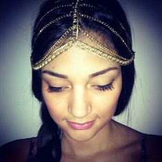 chain headband.