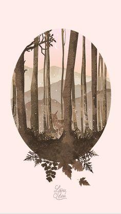 Fond d'écran d'Octobre : Dans les bois