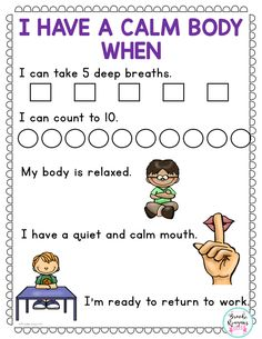 Calm down toolkit. Classroom Behavior, Autism Classroom, Special Education Classroom, Physical Education, Education Week, Physics Classroom, Character Education, Health Education, Higher Education