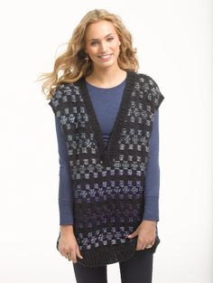 Stranded Color Tunic FREE PATTERN from Lion Brand