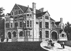 Lost Minneapolis Mansions Part II | The mansion of Mrs. Louise McNair was a fine red stone mansion to say the very least. Set on a large gracious lot with heavy details, turrets and bays this home contained every amenity one could desire. Mrs. Shaw's husband was a well known lawyer and judge before becoming mayor of St. Anthony in 1869. Her husband died in 1885 shortly before completing the great mansion at 1301 Linden Ave.