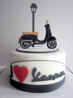 VESPA CAKE https://www.facebook.com/pages/Sweet-Fantasy-by-Anastasia-%CE%A4%CE%BF%CF%8D%CF%81%CF%84%CE%B5%CF%82-%CE%BC%CE%B5-%CE%B6%CE%B1%CF%87%CE%B1%CF%81%CF%8C%CF%80%CE%B1%CF%83%CF%84%CE%B1/813903505332408