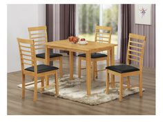 Hanover table and chairs - Hanover Rectangle Dining Set with 4 chairs. Created from solid hardwood in light oak colour, this table set is exceptional value
