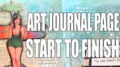 How to: Art Journal Page - Rainy Day Fairy