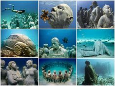 Ellen and dad dove here, one day I'll dive here with them. Cancun Underwater Museum in Cancun, Mexico.