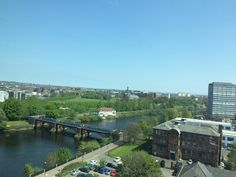 Glasgow, looking east along the River Clyde