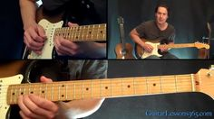 The Beatles - While My Guitar Gently Weeps Guitar Lesson - Solo - This works for electric guitar. I also have a tutorial on this board with the background acoustic guitar tutorial.which is totally me! Learn Guitar Chords, Learn To Play Guitar, Guitar Tabs, Guitar Notes, Guitar Scales, Ukulele, Guitar Solo, Music Guitar, Playing Guitar