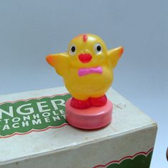 Rare Vintage Tape Measure Celluloid Chicken