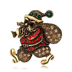 2017 Sale Brooches Pin Broche New Design Unique Figure Vintage Santa Claus Brooch Arrival Christmas Jewelry For Women Gifts  #Affiliate