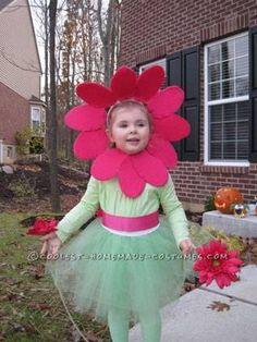 Cute Toddler's Homemade Flower Costume