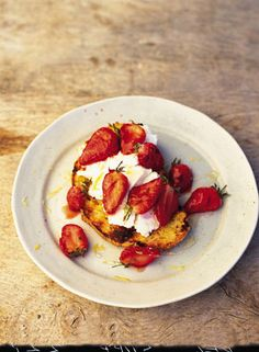 Charred Eggy Bread with Straberries and Honey | Bread & doughs Recipes | Jamie Oliver Recipes
