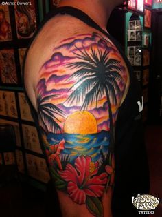 hawaii theme half sleeve - Google Search