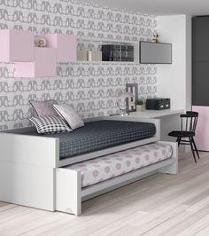 Las camas compactas convencionales habitualmente solemos encontrarnos con modelos en los que si la cama de arriba tiene 90x190 la cama inte...