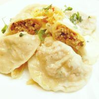 Ravioli, Potato Salad, Mashed Potatoes, Toast, Meals, Ethnic Recipes, Food, Asia, Whipped Potatoes