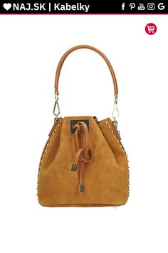 Kabelka shopper Vera Pelle Hnedá / Sivá / Camel KR-027 CAMEL-016 Bucket Bag, Camel, Michael Kors, Bags, Fashion, Handbags, Moda, Fashion Styles, Camels