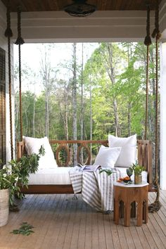 Outdoor Objects : Porch swing // A Mississippi Home That Gave New Life to an Old Farmhouse via Design*Sponge -Read More –