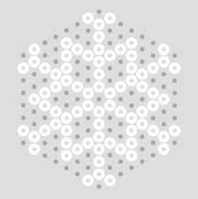 Resultado de imagen para patrones hama beads placa hexagonal