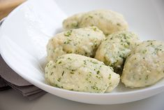 Topfennocken - Rezept Paleo Pecan Pie, Pecan Pie Muffins, Lean Meals, Protein Foods, Vegan Vegetarian, Potato Salad, Mashed Potatoes, Diet, Healthy
